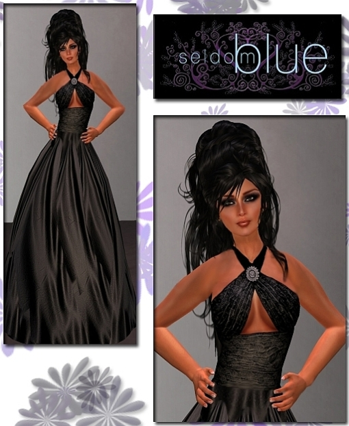 Destiny Gown In Black Modeled By Temperance Moonites