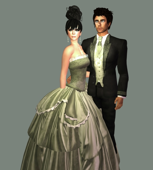 Jubileum tux and gown SF Design